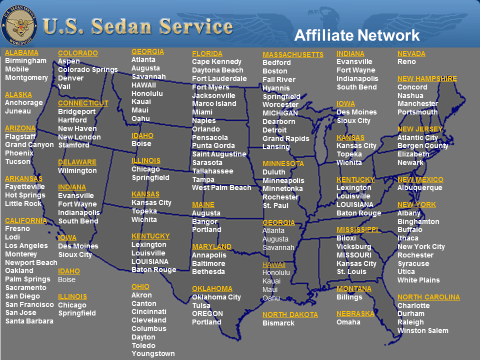 US Sedan Service Local Affiliate Network